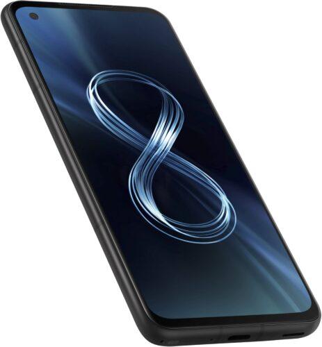 Asus Zenfone 8 noir couverture côté gauche en bas