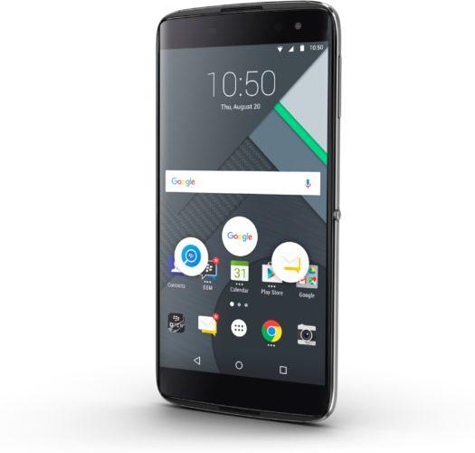 BlackBerry DTEK60 black voorkant rechterzijkant schuin
