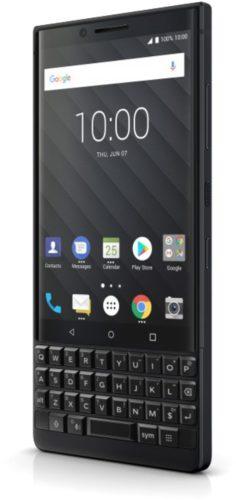 BlackBerry KEY2 black voorkant rechterzijkant