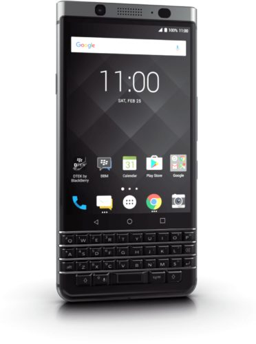 BlackBerry KEYone black voorkant linkerzijkant