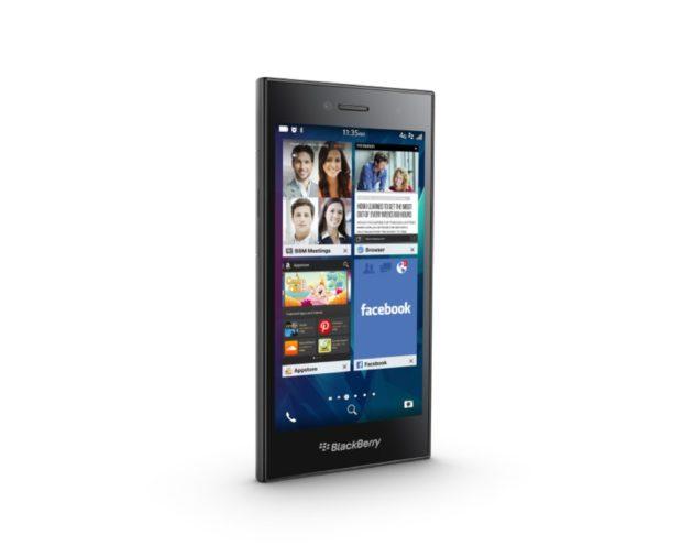 BlackBerry Leap grijs linkerzijkant schuin