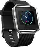 Fitbit Blaze zwart voorkant linkerzijkant schuin