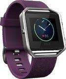 Fitbit Blaze paars voorkant linkerzijkant schuin