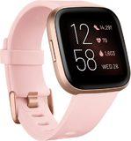 Fitbit Versa 2 Vorderseite linke Seite schräg pink