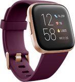 Fitbit Versa 2 front left side tilted ed purple