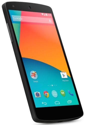 Google Nexus 5 schuin
