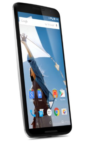 Google Nexus 6 wit schuin linkerzijkant