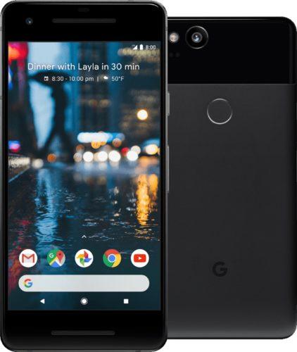 Google Pixel 2 zwart overzicht