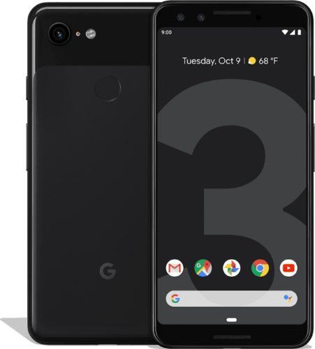 Google Pixel 3 zwart overzicht