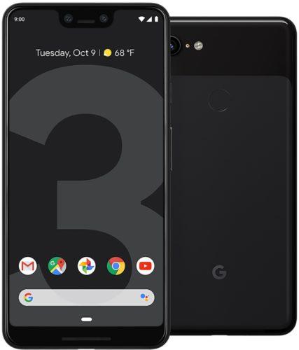 Google Pixel 3 XL zwart overzicht