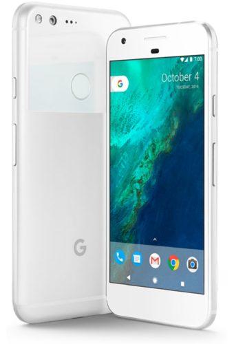 Google Pixel zilver overzicht schuin