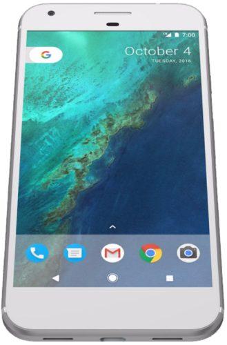 Google Pixel XL zilver voorkant onderkant