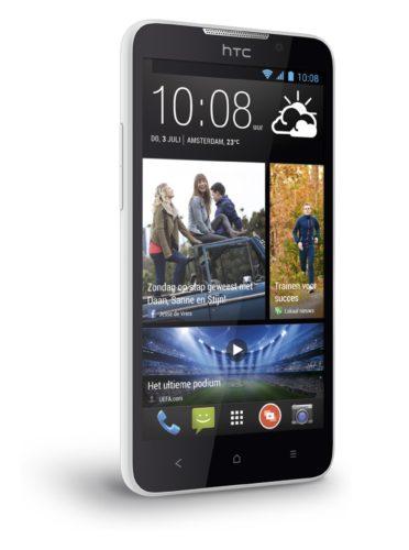 HTC Desire 516 arctic wit linkerzijkant schuin