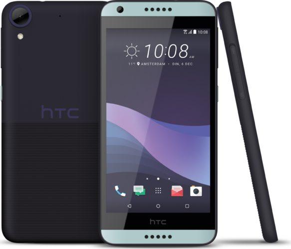 HTC Desire 650 blauw overzicht