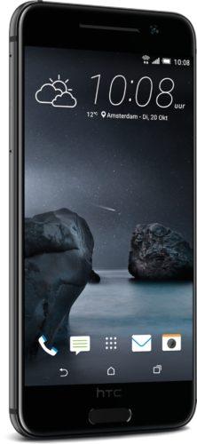 HTC One A9 carbon grijs voorkant linkerzijkant schuin