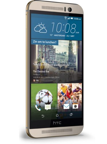 HTC One M9 goud linkerzijkant schuin