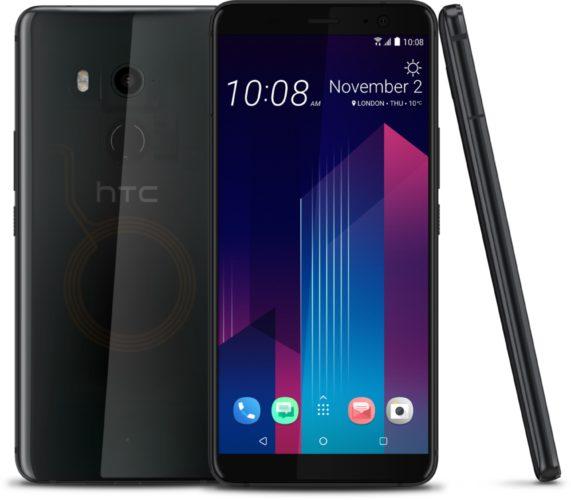 HTC u11 plus translucent zwart overzicht