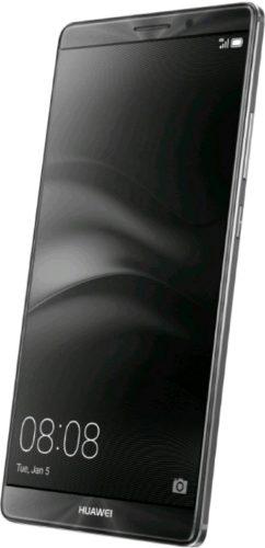 Huawei Mate 8 zwart voorkant rechterzijkant schuin
