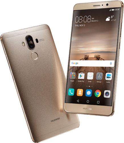 Huawei Mate 9 goud overzicht