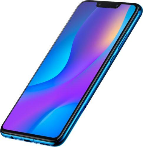 Huawei nova 3i paars voorkant rechterzijkant schuin