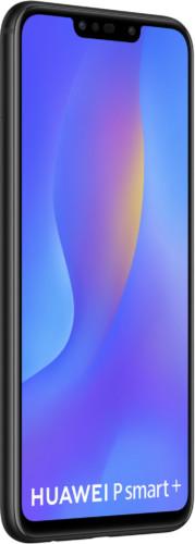 Huawei p smart plus zwart voorkant linkerzijkant