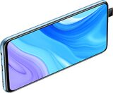 Huawei P Smart Pro bleu en rotation ouvert