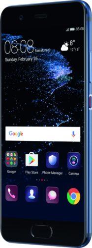 Huawei P10 blauw voorkant rechterzijkant