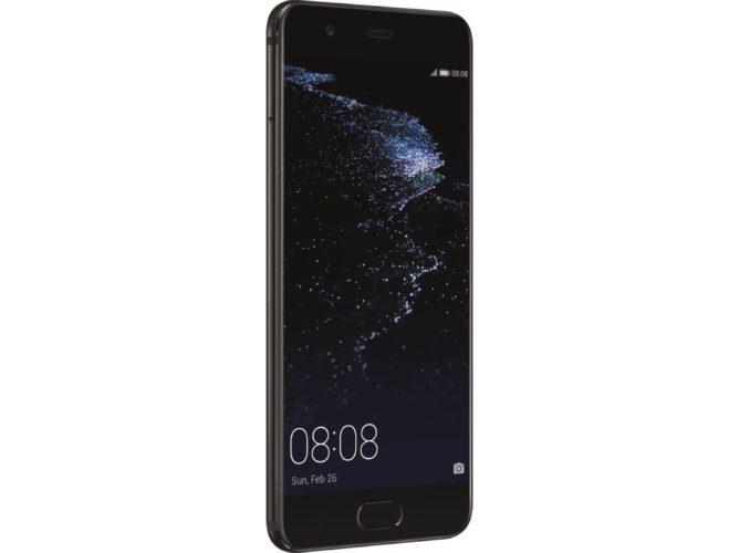 Huawei P10 Plus zwart voorkant linkerzijkant