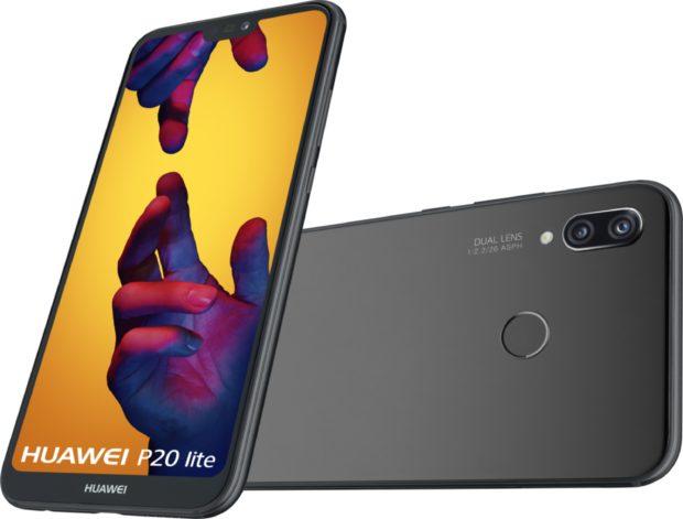 Huawei P20 Lite zwart overzicht