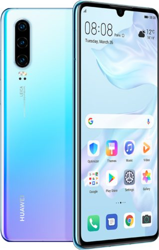 Huawei P30 blue overview