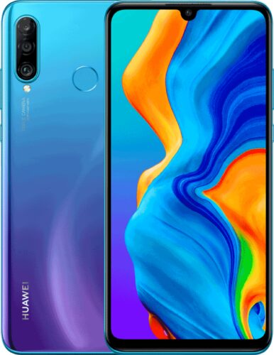 Huawei P30 lite New Edition blue overview