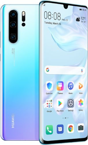 Huawei P30 Pro blu panoramica