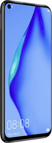 Huawei P40 lite black front left side