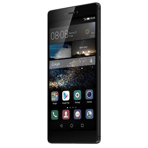 Huawei P8 zwart rechterzijkant schuin
