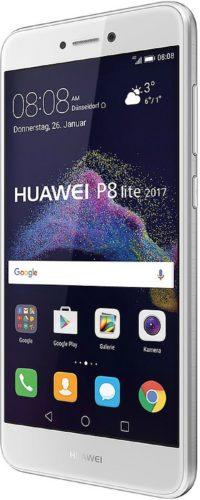 Huawei p8 lite 2017 wit voorkant rechterzijkant