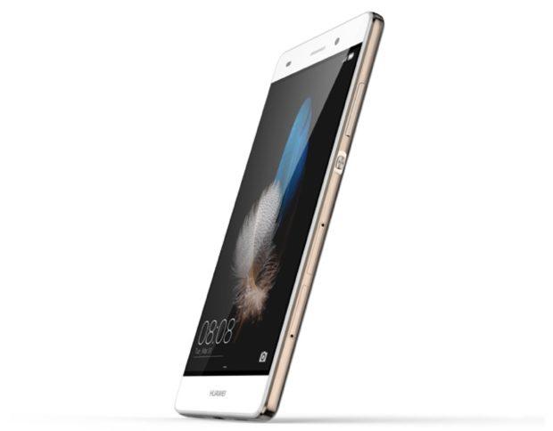 Huawei P8 Lite goud rechterzijkant schuin