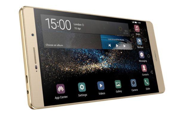 Huawei p8 max goud gedraaid schuin 2