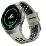 Huawei Watch GT 2e verde tapa delantera lado derecho abajo aslant