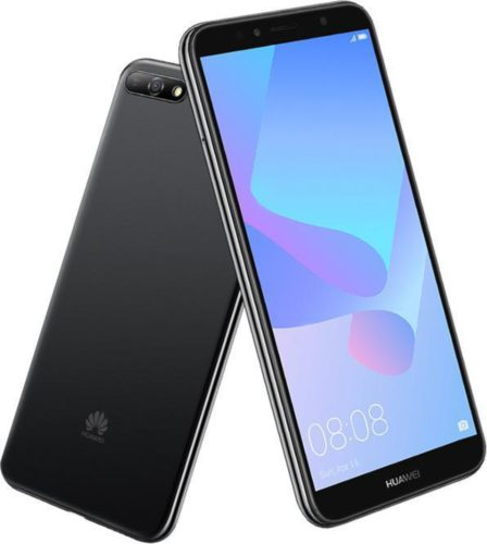 Huawei Y6 2018 zwart overzicht