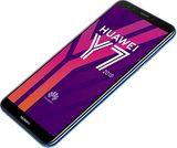 Huawei Y7 2018 blauw voorkant rechterzijkant schuin