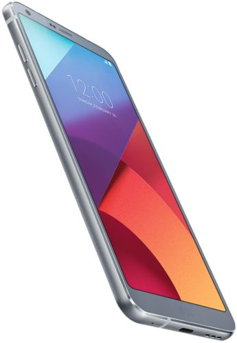 LG G6 blauw voorkant linkerzijkant onderkant