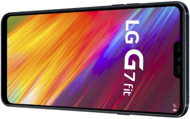 LG G7 Fit zwart gedraaid