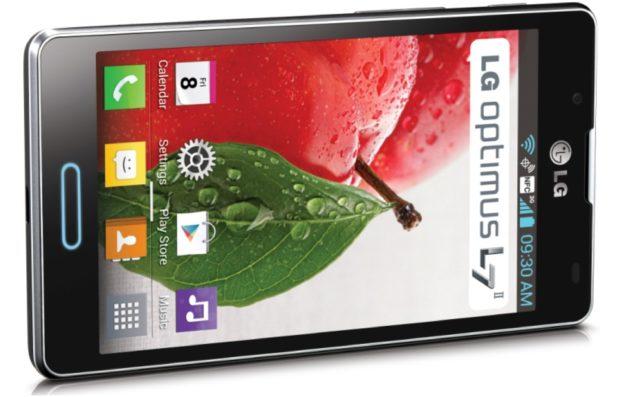 LG Optimus L7 II P710 zwart gedraaid