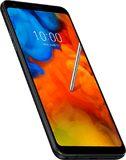 LG Q Stylus negro tapa delantera lado izquierdo abajo