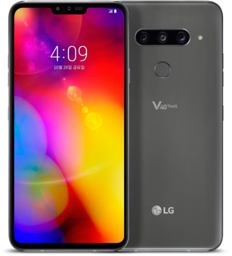 LG V40 ThinQ overzicht grijs