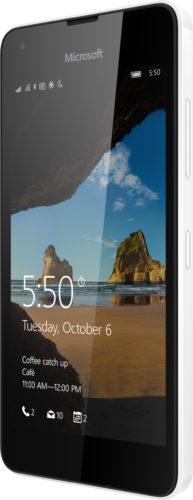 Microsoft Lumia 550 wit schuin linkerzijkant