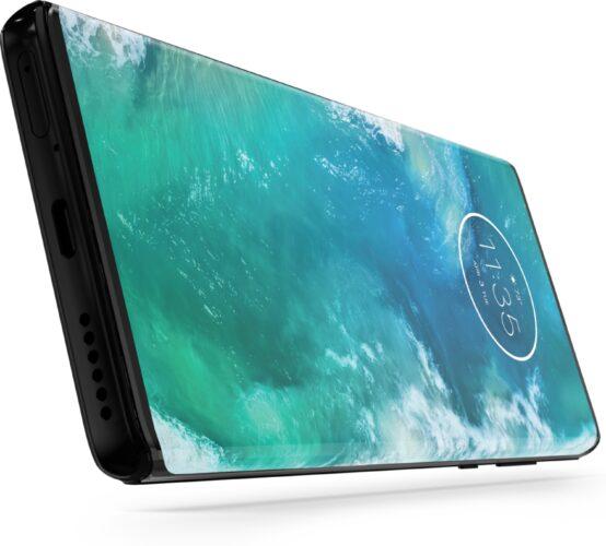 Motorola edge plus grijs onderkant gedraaid