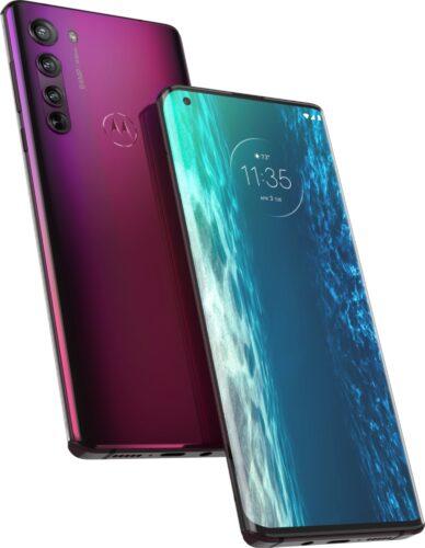 Motorola edge viola panoramica