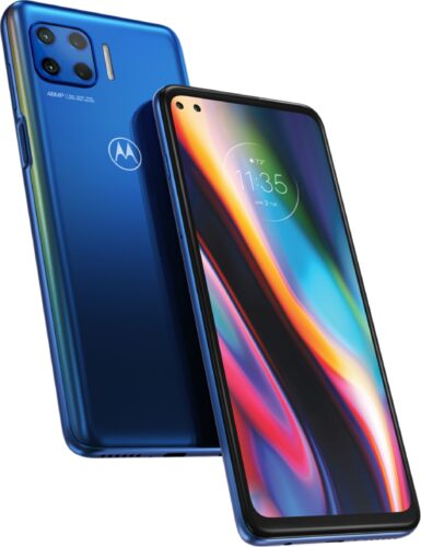 Motorola Moto G 5G Plus blauw overzicht