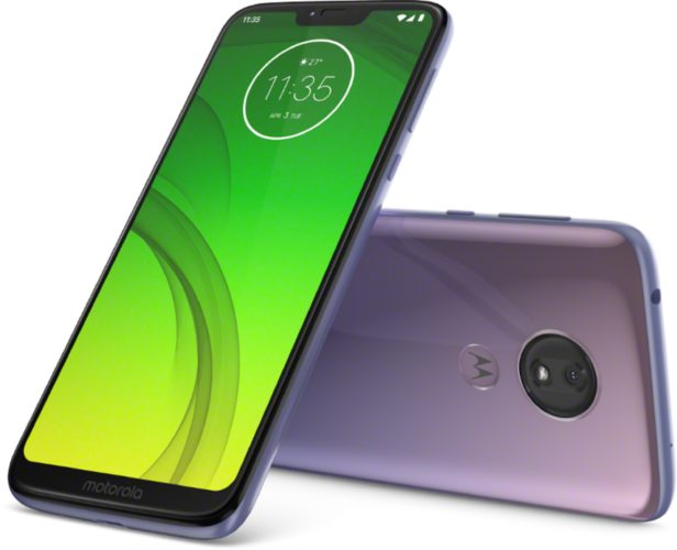 Moto rola Moto G7 Power purple overview